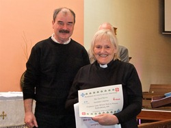 The Rev Carol Harvey, curate at Carnmoney Parish, was among those to complete the Irish course at Monkstown.