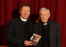 Canon John Mann, who was behind the book, with Canon Edgar Turner.
