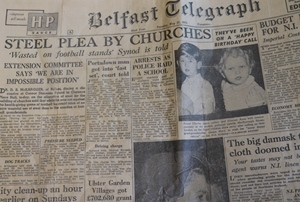 Steel used for football stands, not church halls, Synod complains in 1952!