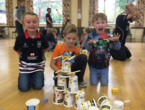 Drum fun at Kids Big Adventure days!