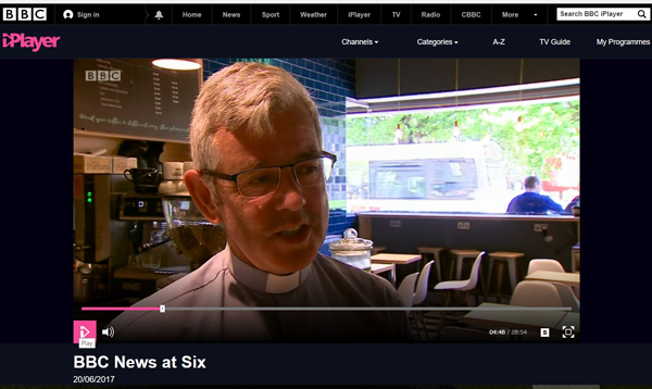 Archdeacon features (briefly) on national news