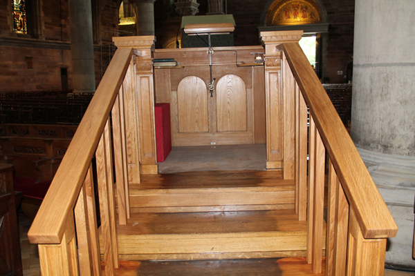 New rails make for a safer pulpit in Cathedral
