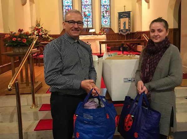 Harvest gifts for Women's Aid as Ahoghill and Portglenone are certified Safe Spaces
