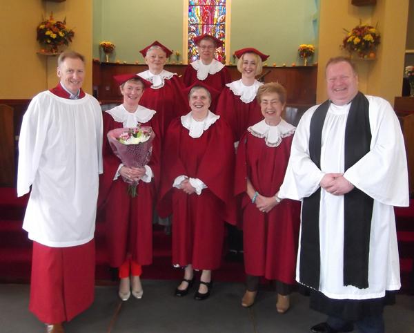 Jennifer serves 50 years in Cloughfern Choir!