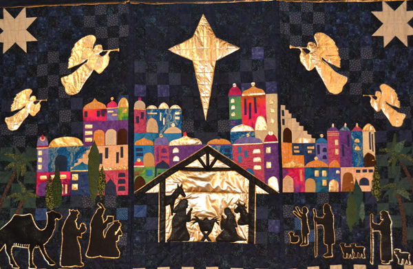 Quilts for Advent exhibition at St Cedma's, Larne