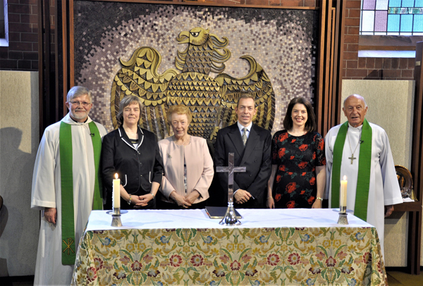 Dedication of cross in memory of Dr Donald Davison