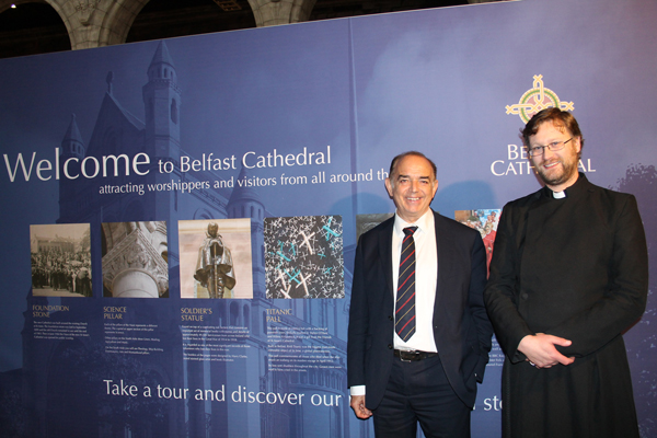 Lord Bourne visits St Anne's Cathedral