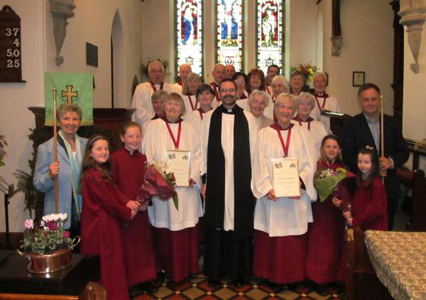 Parish honours long-serving choir members