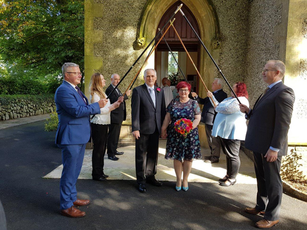 Church Wardens make history with wedding in St Patrick's, Ballyclug