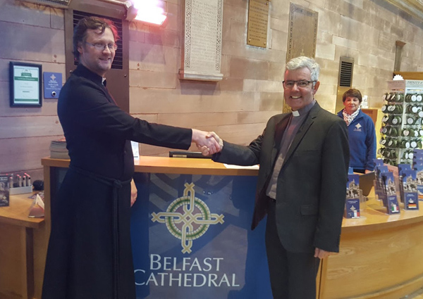 Dean-Elect calls into Belfast Cathedral to say hello