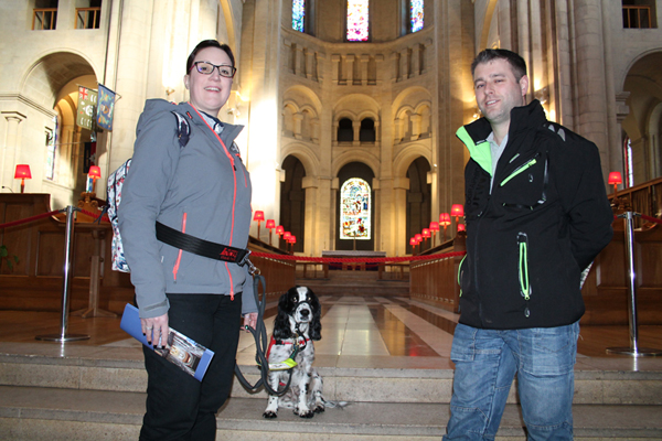 Life-saving spaniel pays visit to Belfast Cathedral