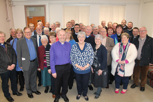 Clergy gather to say farewell to Bishop's PA Rosemary