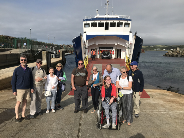 A perfect day on Rathlin for visitors from Knock Parish