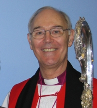 The Bishop of Connor, the Rt Rev Alan Harper, with the old Crozier which is soon to be replaced.