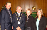 The Rector, the Rev James Carson and Elaine Coey - Director of Music at St Paul's, Lisburn, pictured with the Mayor, Councillor Trevor Lunn and the Mayoress.