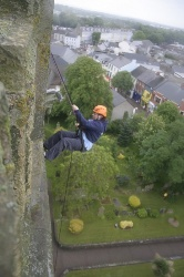 Lynne takes the abseil in her stride!