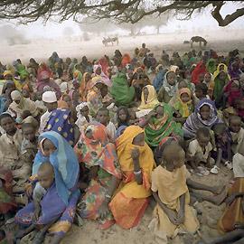 Internally displaced people in Darfur.