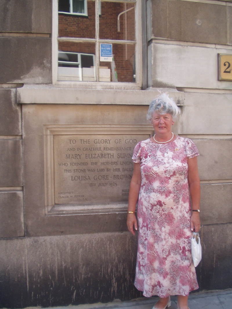 Mrs Norma Bell, Diocesan President, Connor Mothers' Union, pictured at Mary Sumner House in London, headquarters of the MU, before her visit to Buckingham Palace.