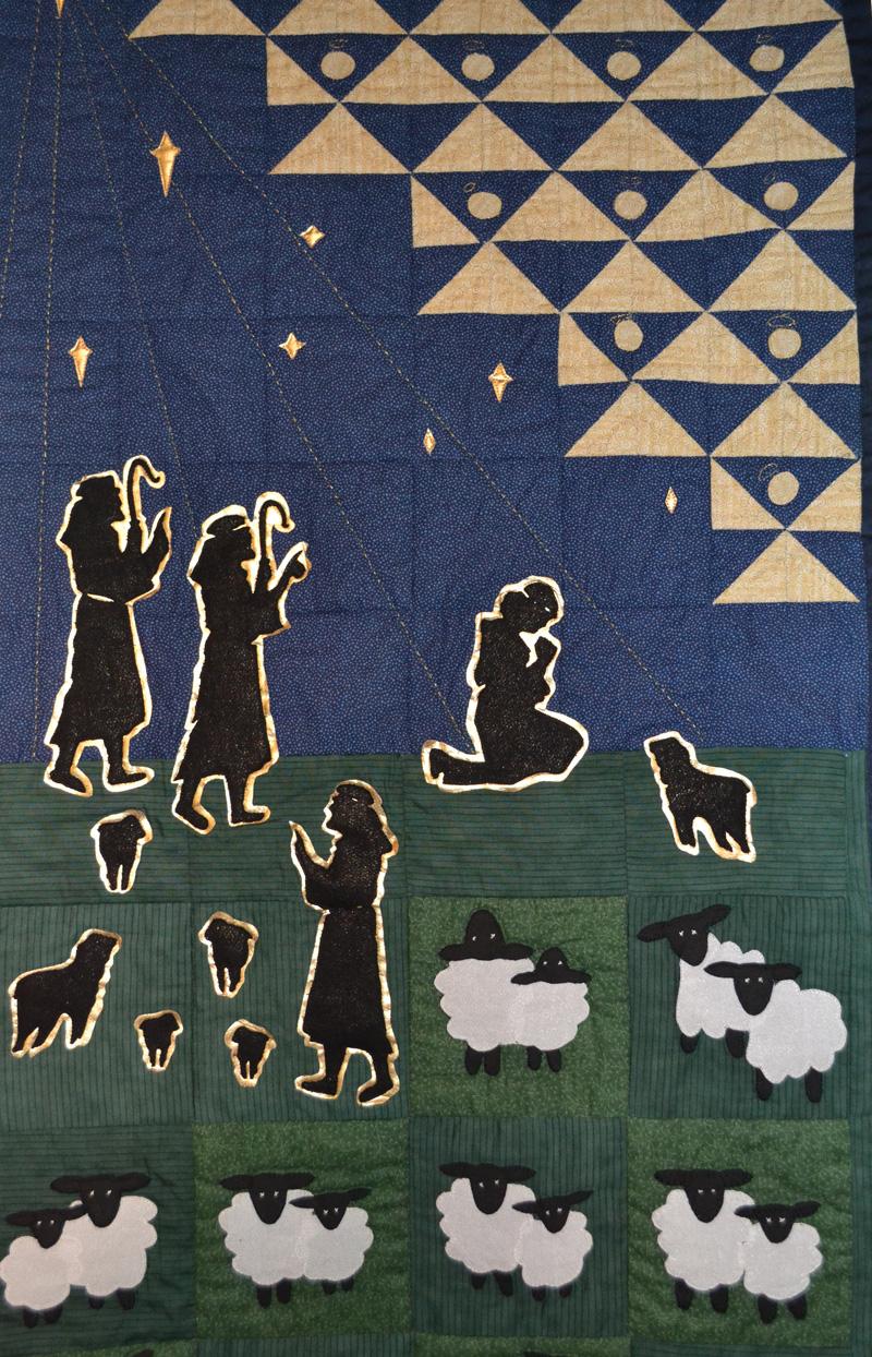wonderful advent quilt exhibition underway in larne the. Black Bedroom Furniture Sets. Home Design Ideas