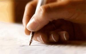 Hand writing document