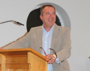Former PSNI Chief Constable Sir Matt Baggott addresses Connor Synod in Carrickfergus.