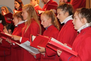 Choristers from St Anne's Cathedral sang at Synod.