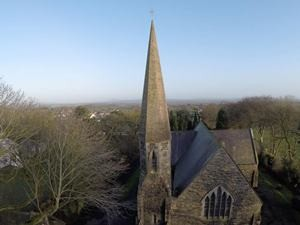 A bird's eye view of St Colmanell's.