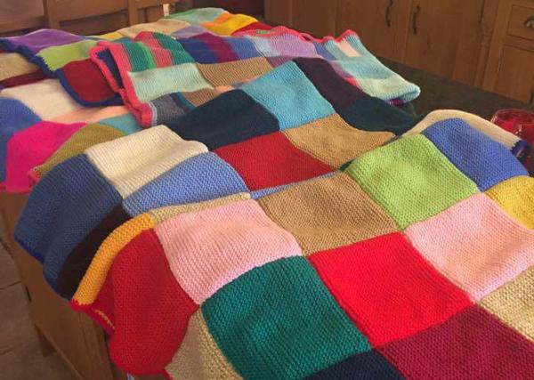 Handmade blankets en route to Gambia