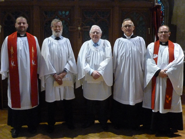 Three Parish Readers commissioned at St Peter's