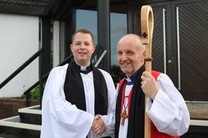 Institution the Rev Peter Jones as rector of Mossley Parish
