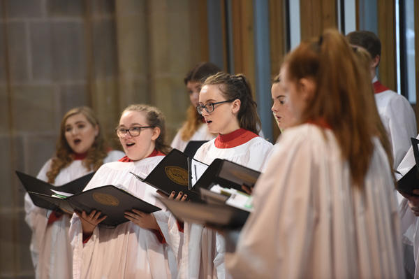 Young People's Choir of Blackburn Cathedral visits St Anne's