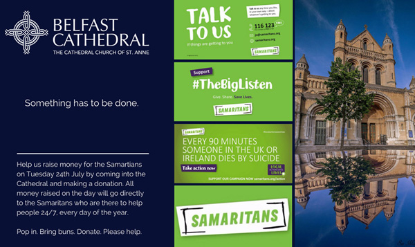 Belfast Cathedral supports Samaritans' Big Listen
