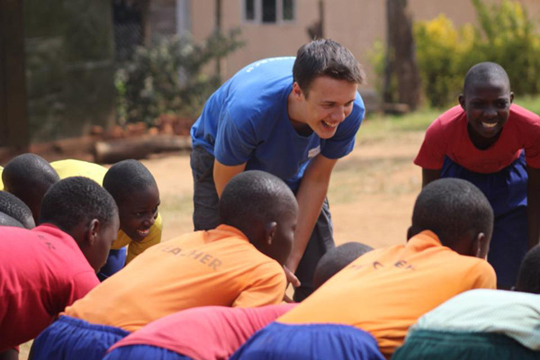 Young adults from Lisburn Cathedral visit school in Kampala