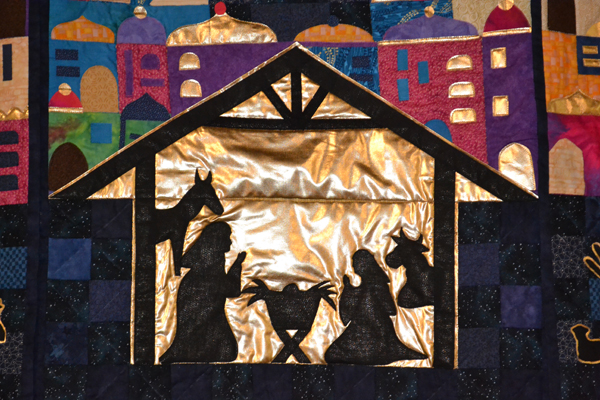 The Christmas story told in quilts
