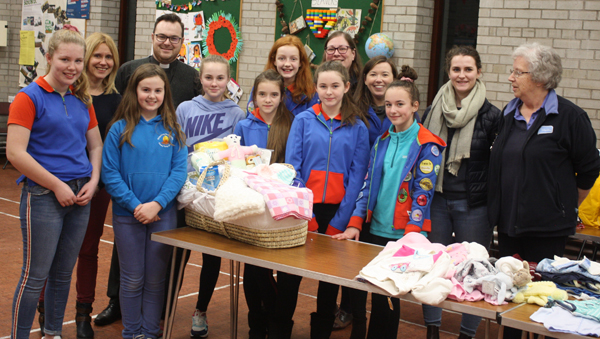 Broughshane Brownies and Guides support Baby Basics