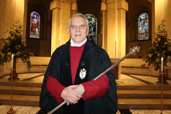 Cathedral head verger retires after almost 20 years