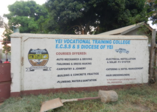 Billy to return to Yei training college he helped establish