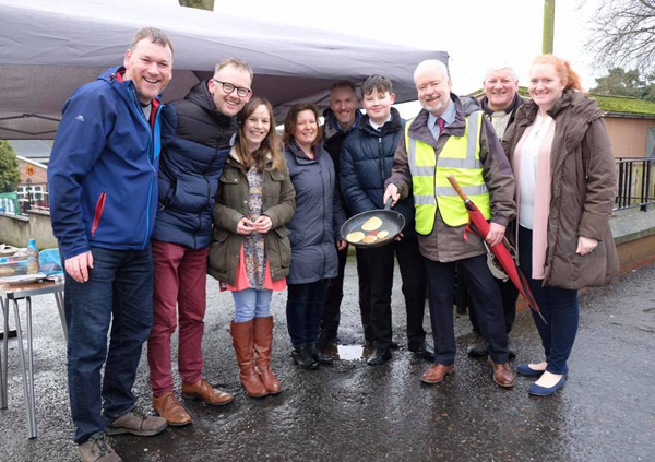 Pancake treats in Ballyclare on Shrove Tuesday