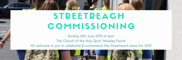Special service to commission Streetreach team