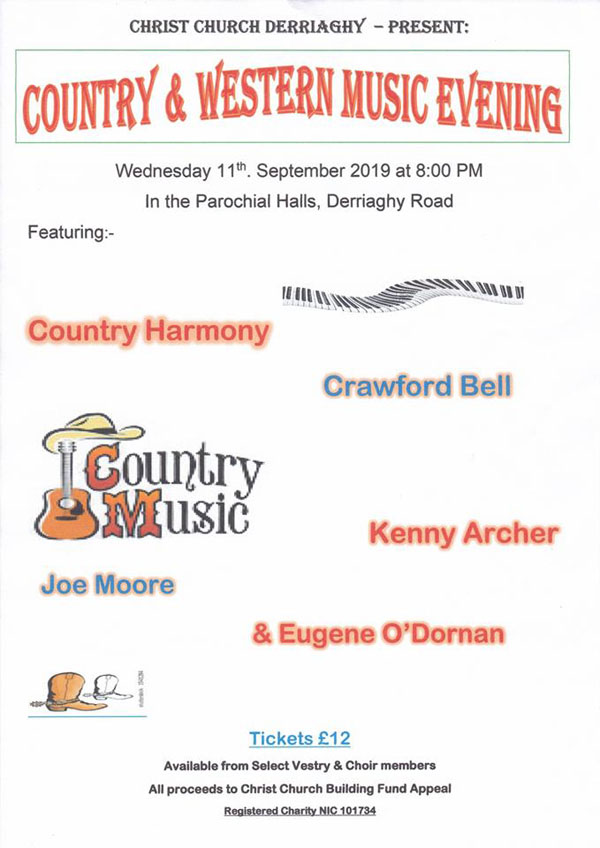 Country and Western Music Evening - The Church of Ireland Diocese of Connor