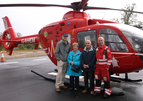 St Nicholas, Belfast, supports Air Ambulance NI