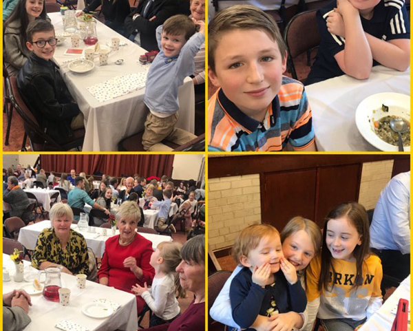 Eating as a Church family at St Patrick's, Broughshane