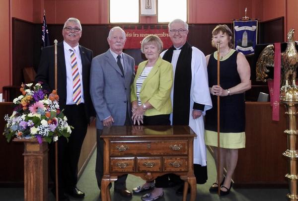 Desk dedicated in memory of faithful parishioner