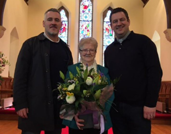 Audrey's seven decades of choir service recognised