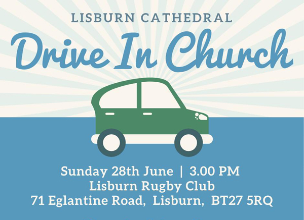Lisburn Cathedral hosts drive-in service at local rugby club