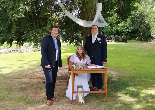 Couple tie the knot in Ahoghill church grounds