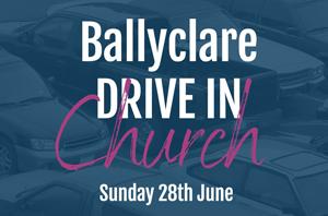 Car radios will broadcast drive-in service in Ballyclare