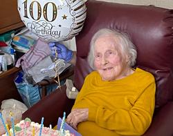 Best birthday ever, says Maisie, 100!