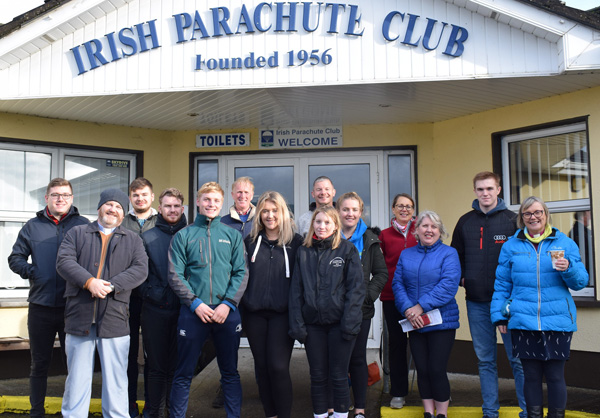 Participants in a sponsored skydive, organised by the Dioceses of Meath and Kildare in November 2019 as part of its 'Mind Yourself' campaign to highlight mental health.