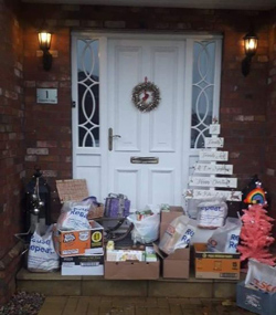 Food items generously donated to Aurelia's Christmas Appeal.